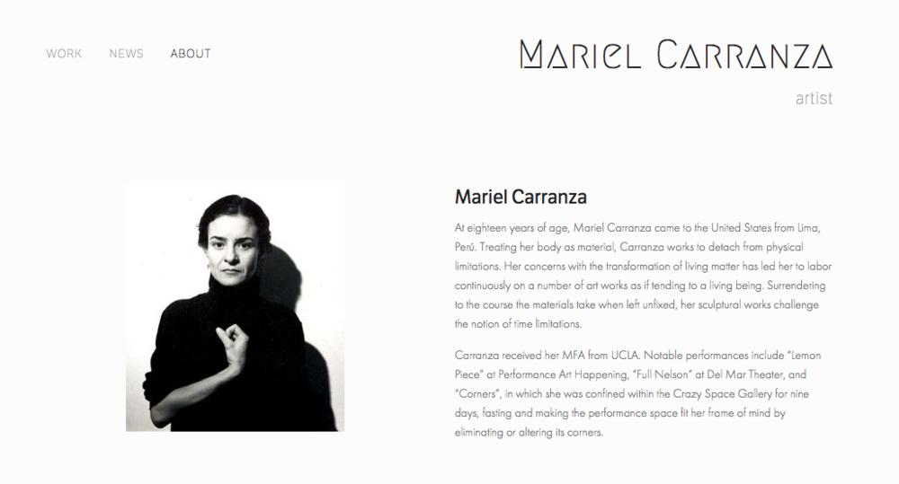 Mariel Carranza , artist portfolio. Visit this site.