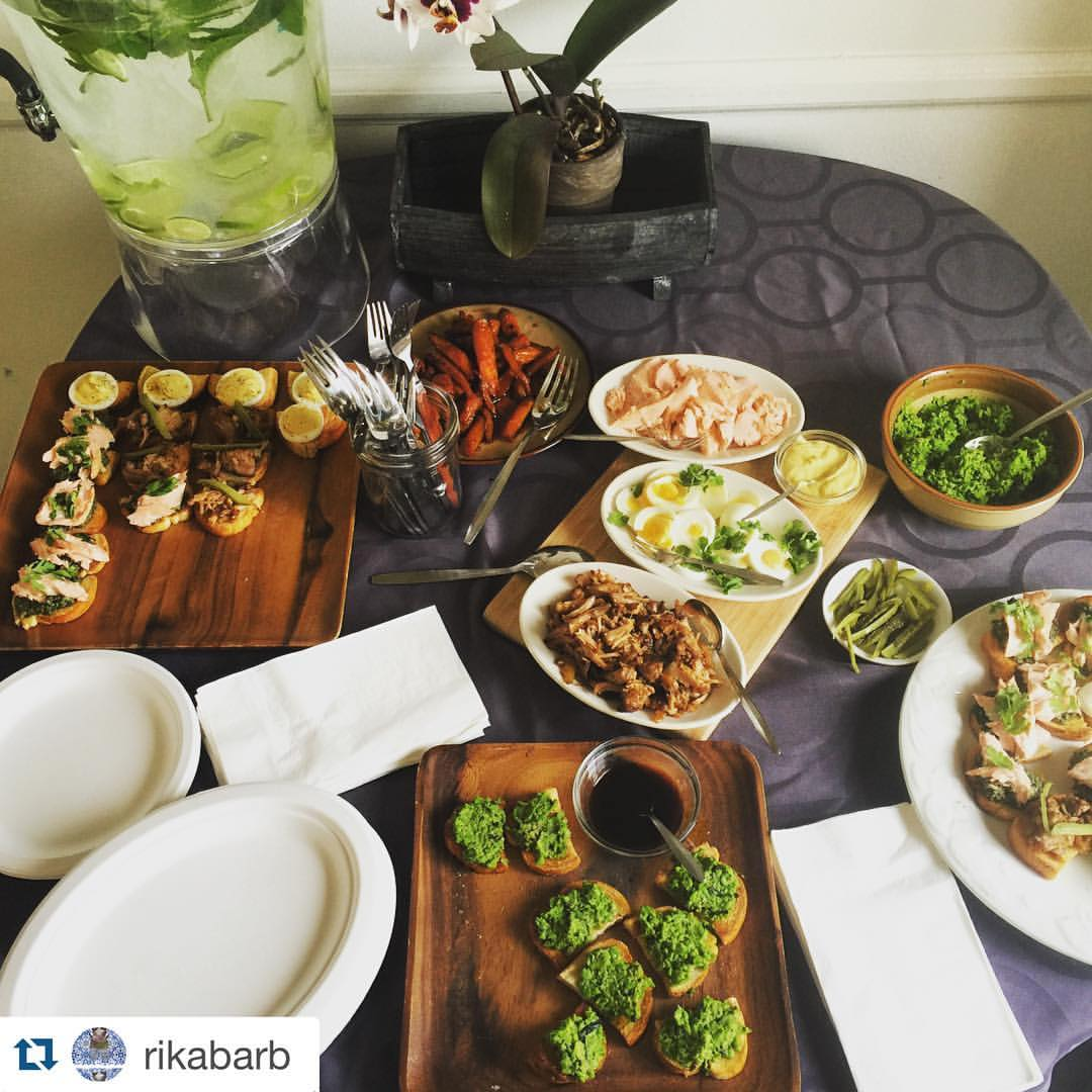 Gorgeous spread provided by our May 2016 hosts, The Nails!