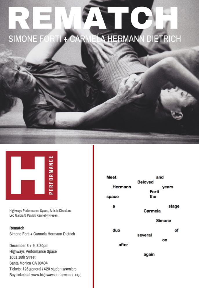 Dance performance postcard (front, back)