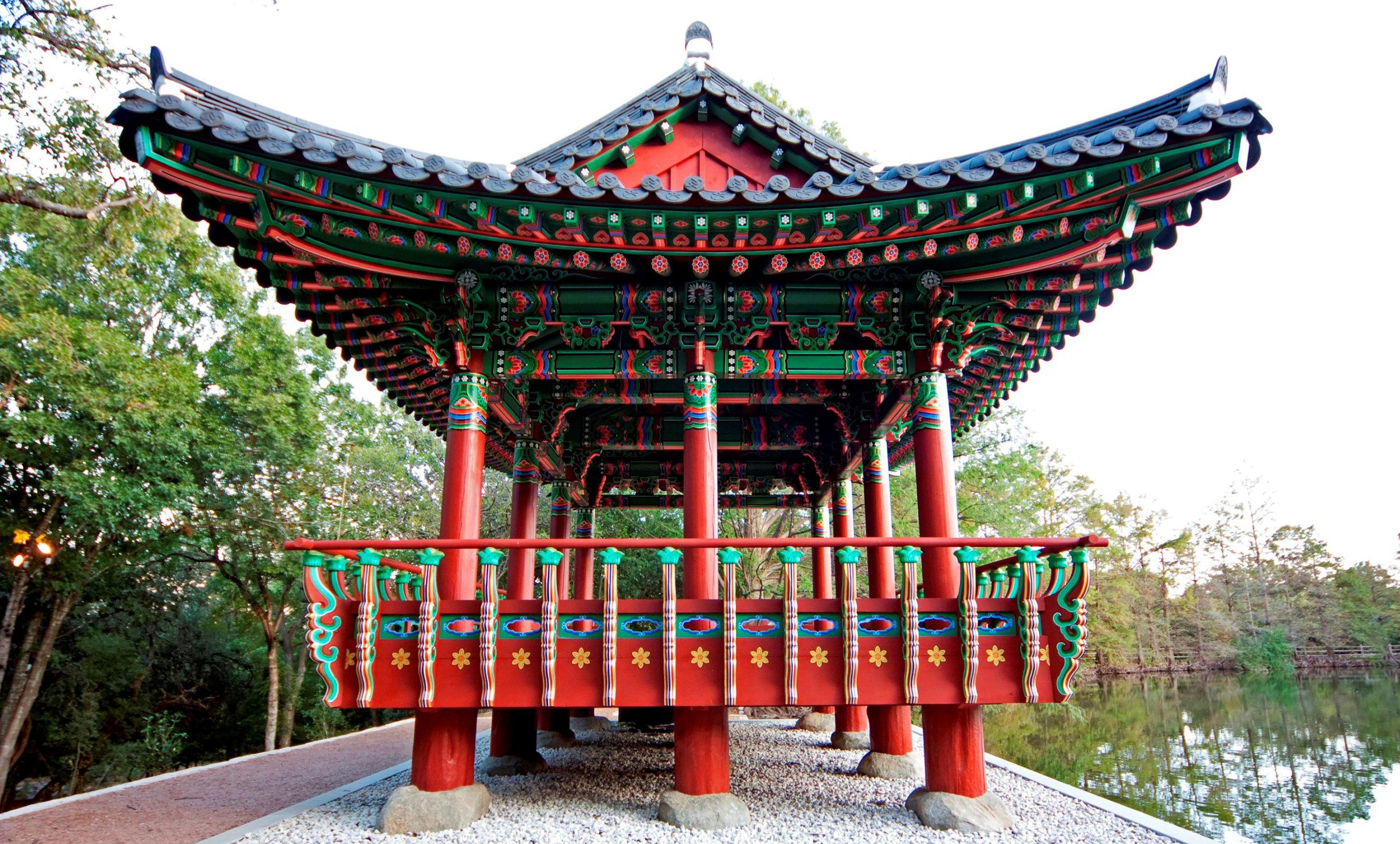 Exterior View: Korean Pavilion at Denam Estate Park