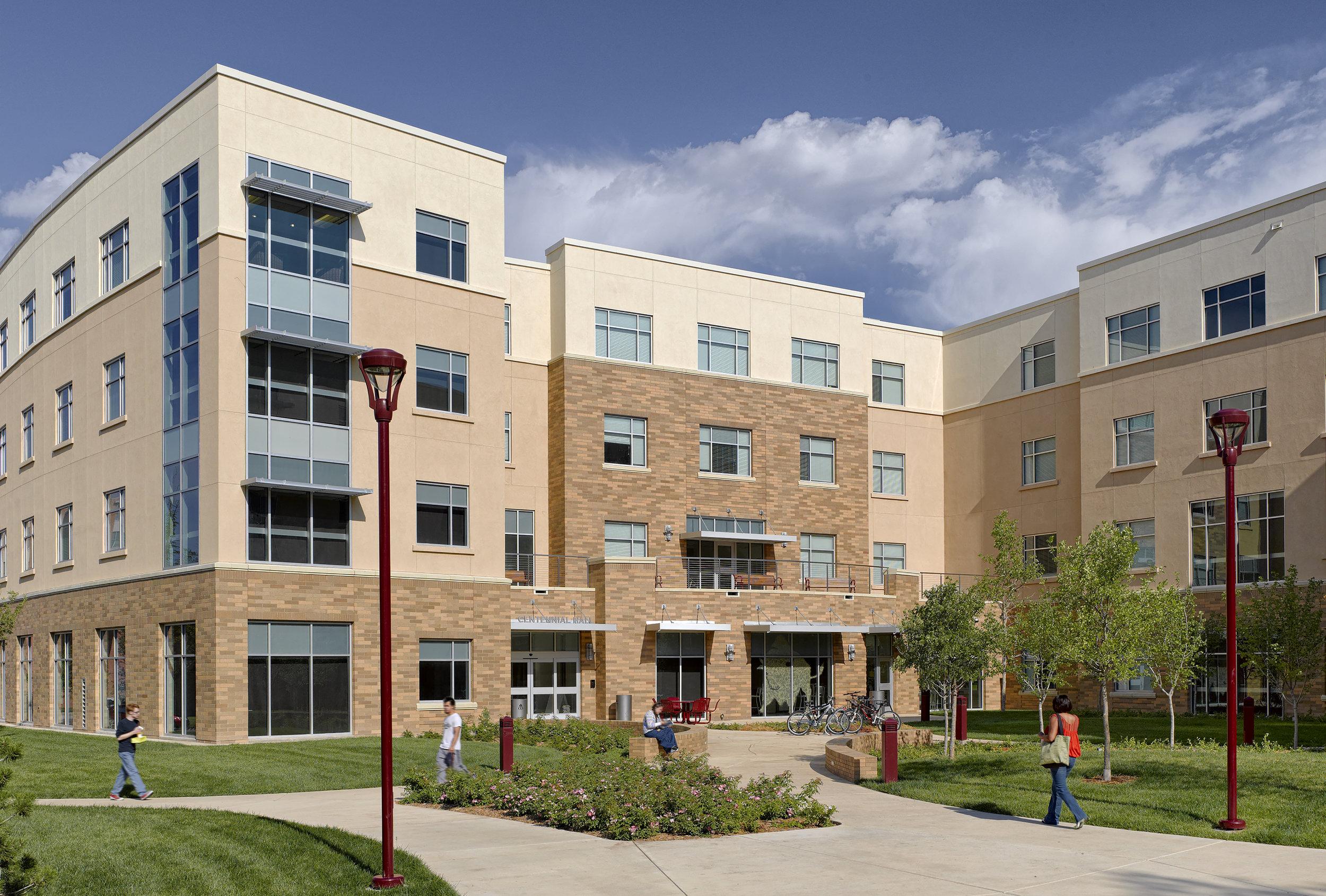 Exterior View: West Texas A&M University Centennial Residence Hall