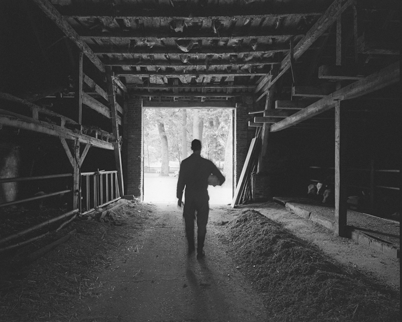 Jens Walking out of Barn