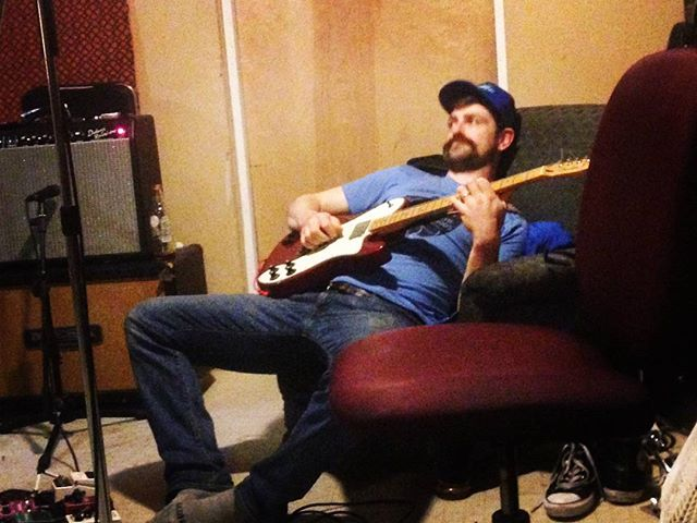 11th consecutive hour of #guitar #goldminor preparing for Wed night with @pamelaparkersf at #boomboomroom!