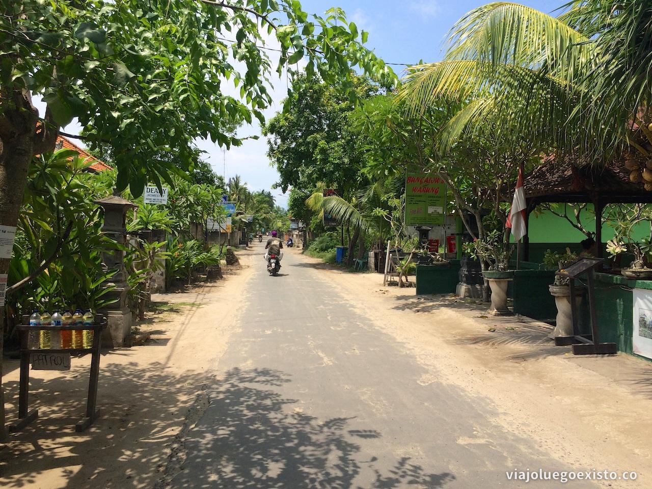 Calle principal de Jungut Batu