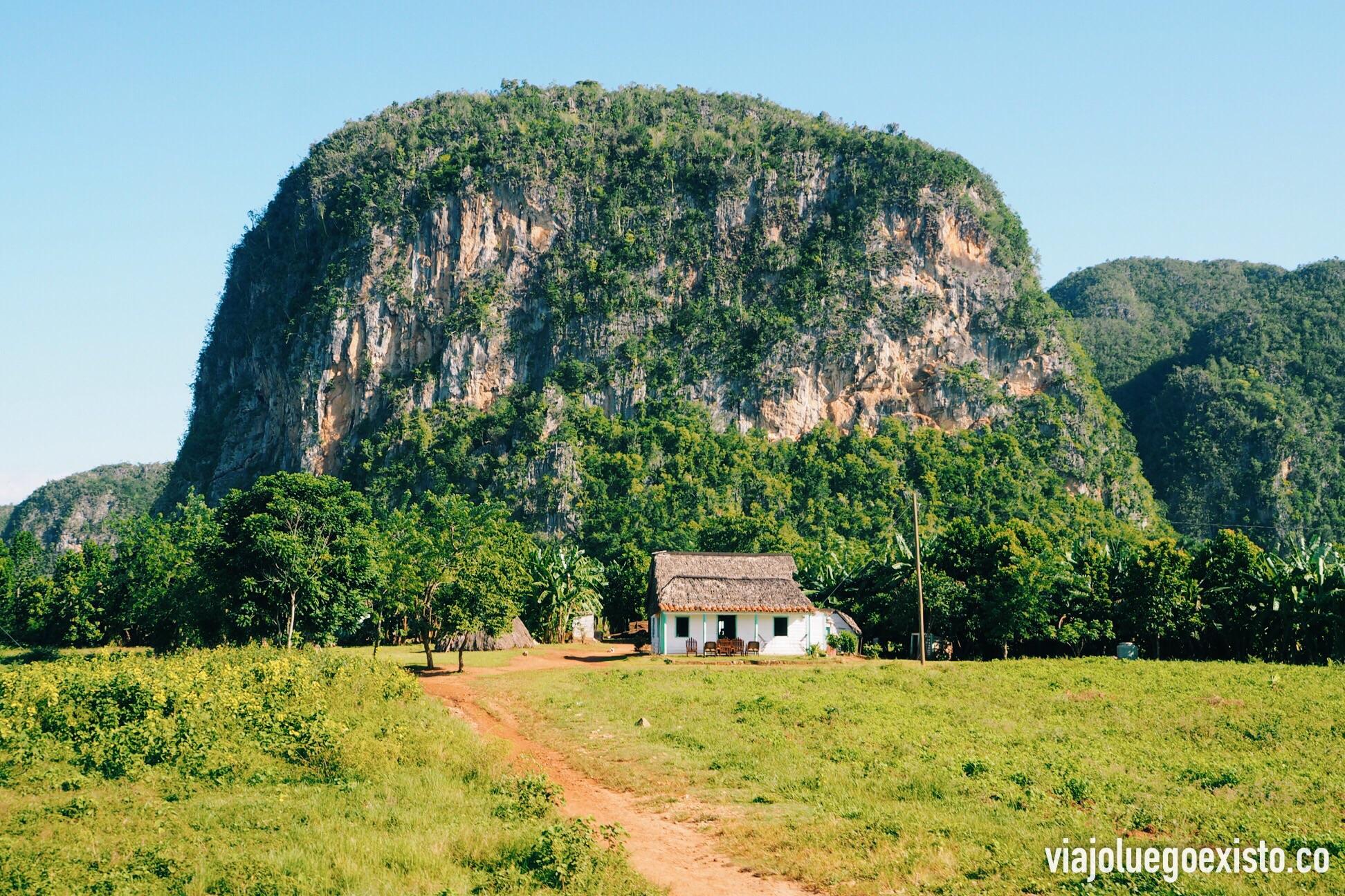 Viñales es famoso por sus formaciones rocosas, llamadas mogotes.