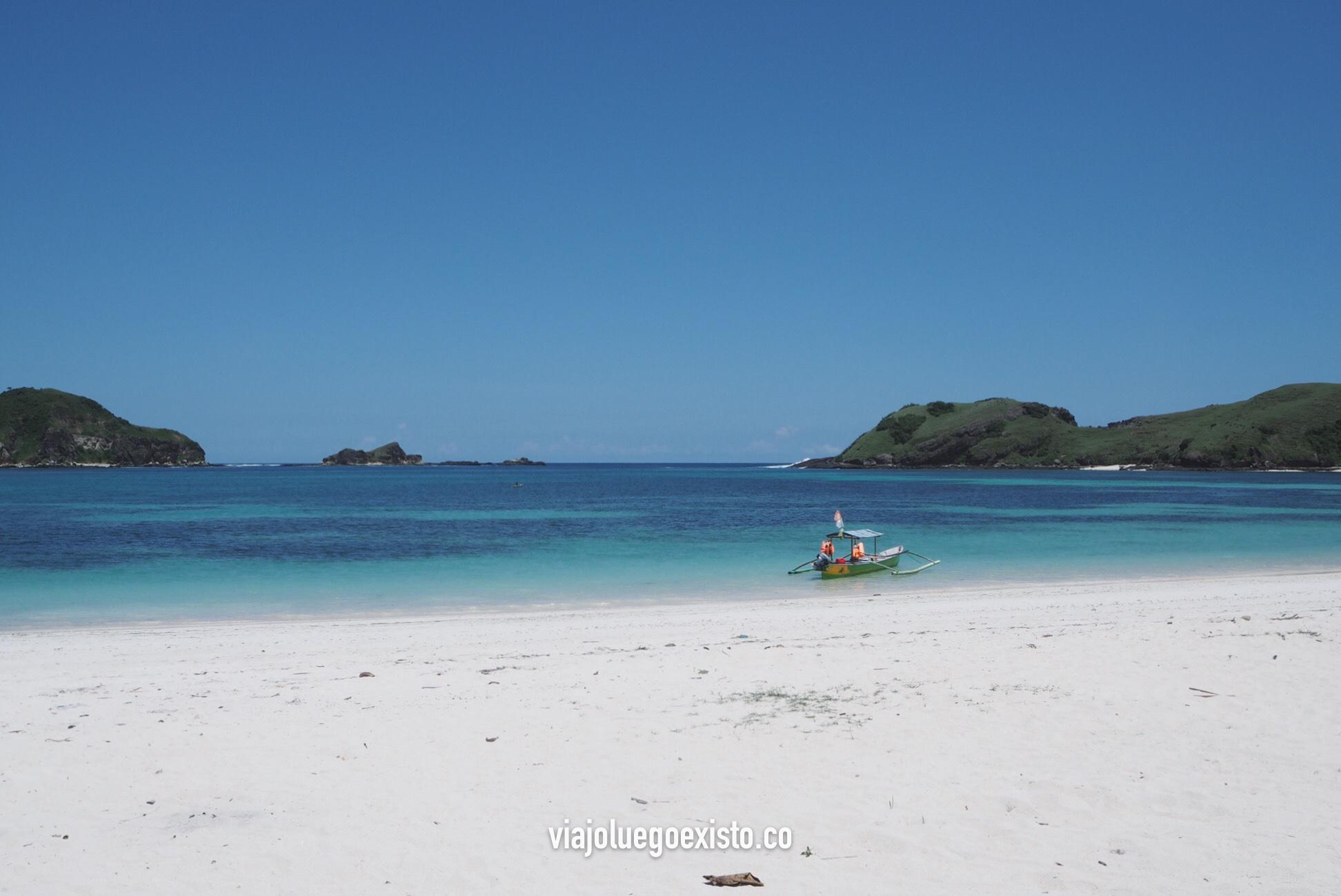 Playa de Tajung Aan, a pocos minutos de Kuta Lombok.
