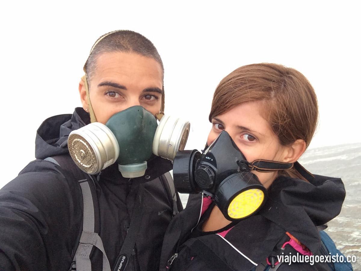 Con las máscaras