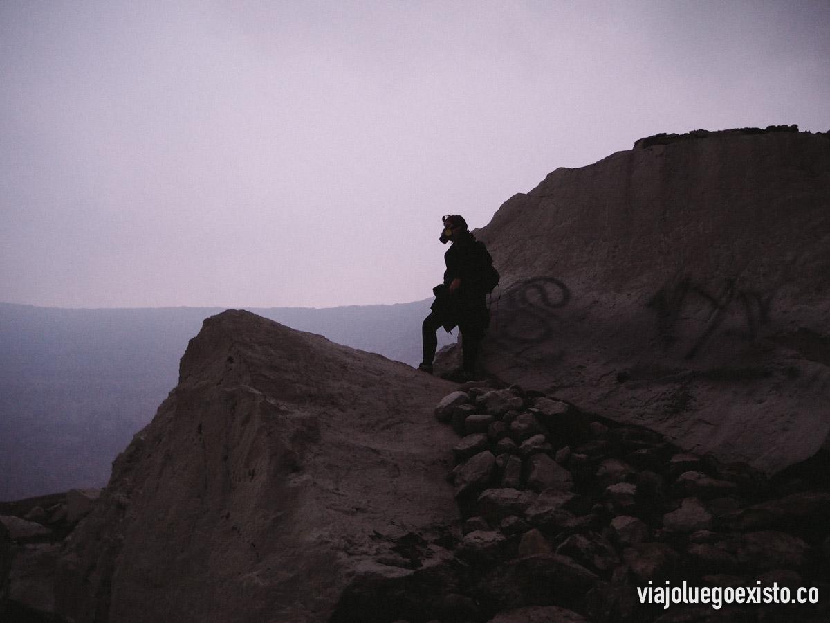 Tam, desde una roca cercana a la cima