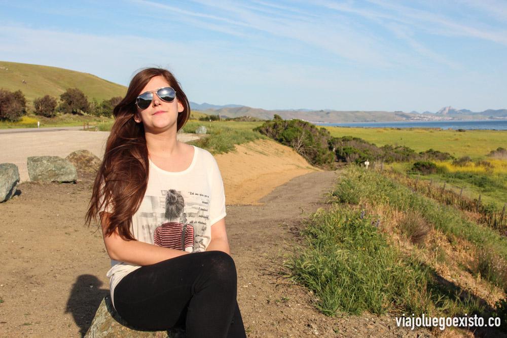 Tam disfrutando de los paisajes de la Big Sur