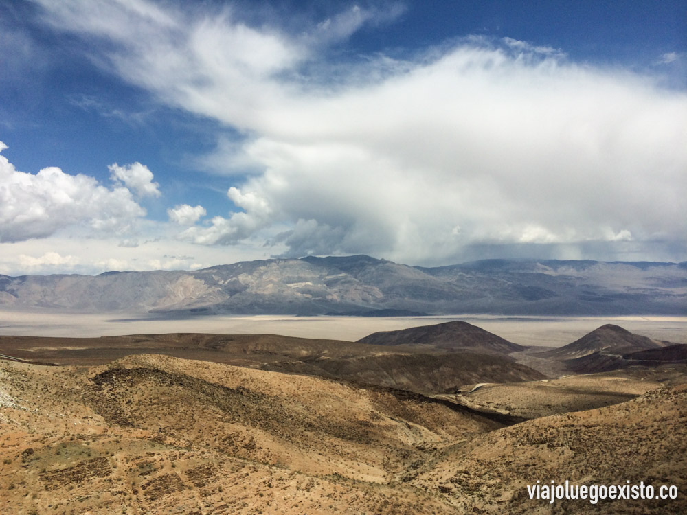 Paisaje desértico en Death Valley