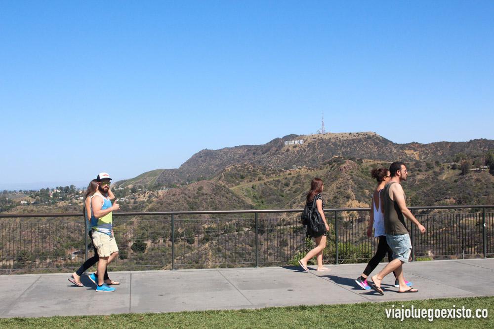 Cartel de Hollywood visto desde Vistas desde el observatorio Griffith