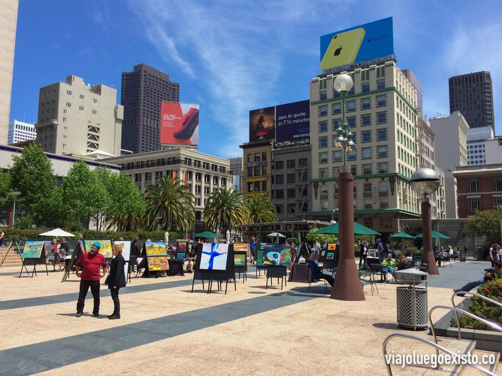 Union Square, en el downtown de San Francisco