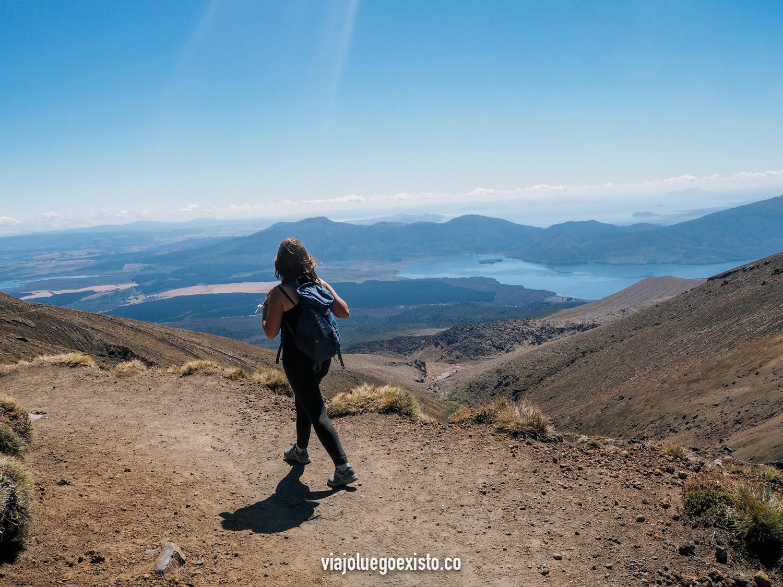 Trekking por el Parque Nacional de Tongariro.