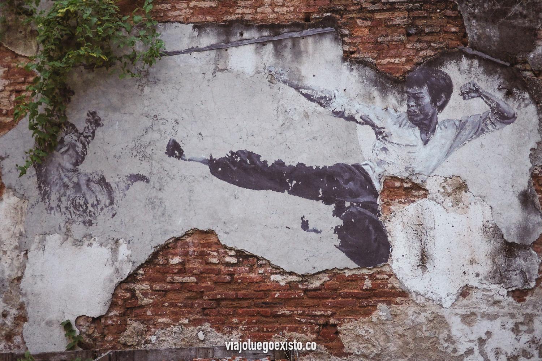 Grafiti de Bruce Lee en George Town