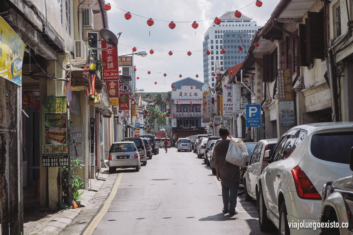 La pequeña China Town de Kuching