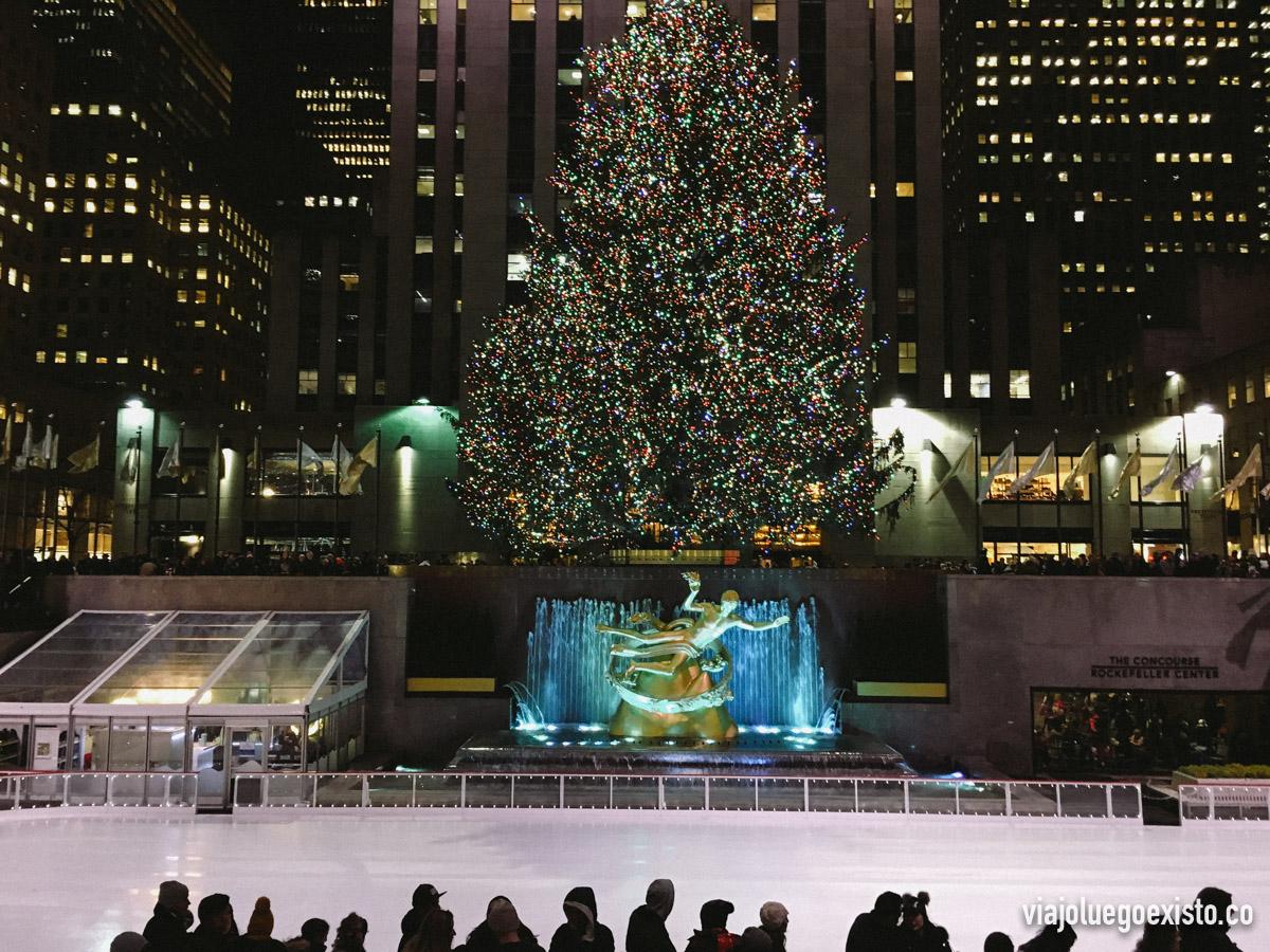 El famoso árbol de navidad del Rockefeller Center
