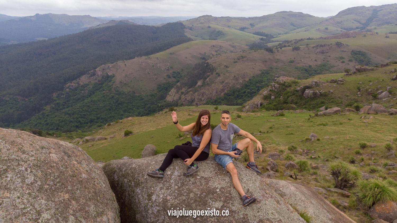 En lo alto de Sheba's breast mountain, con vistas increíbles del valle de Ezulwini