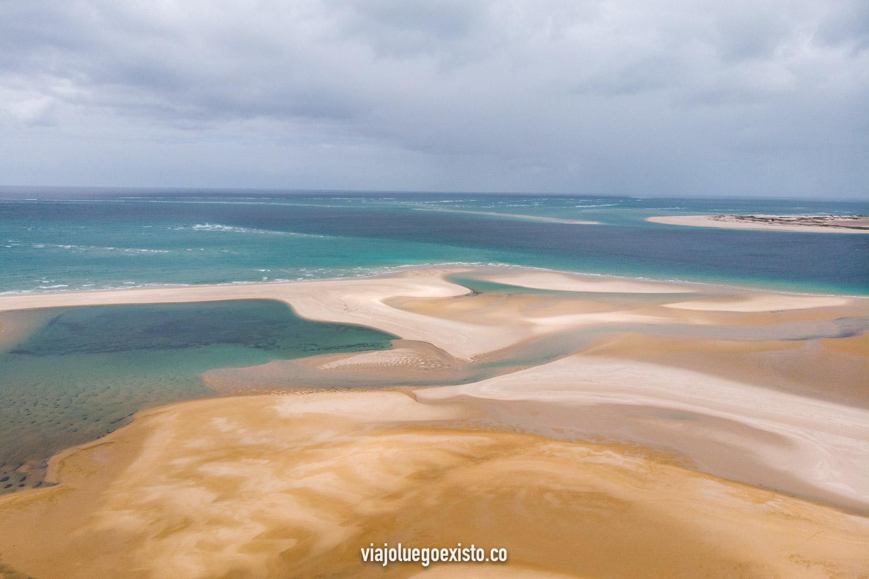 El increíble paisaje de la isla de Bazaruto a vista de dron