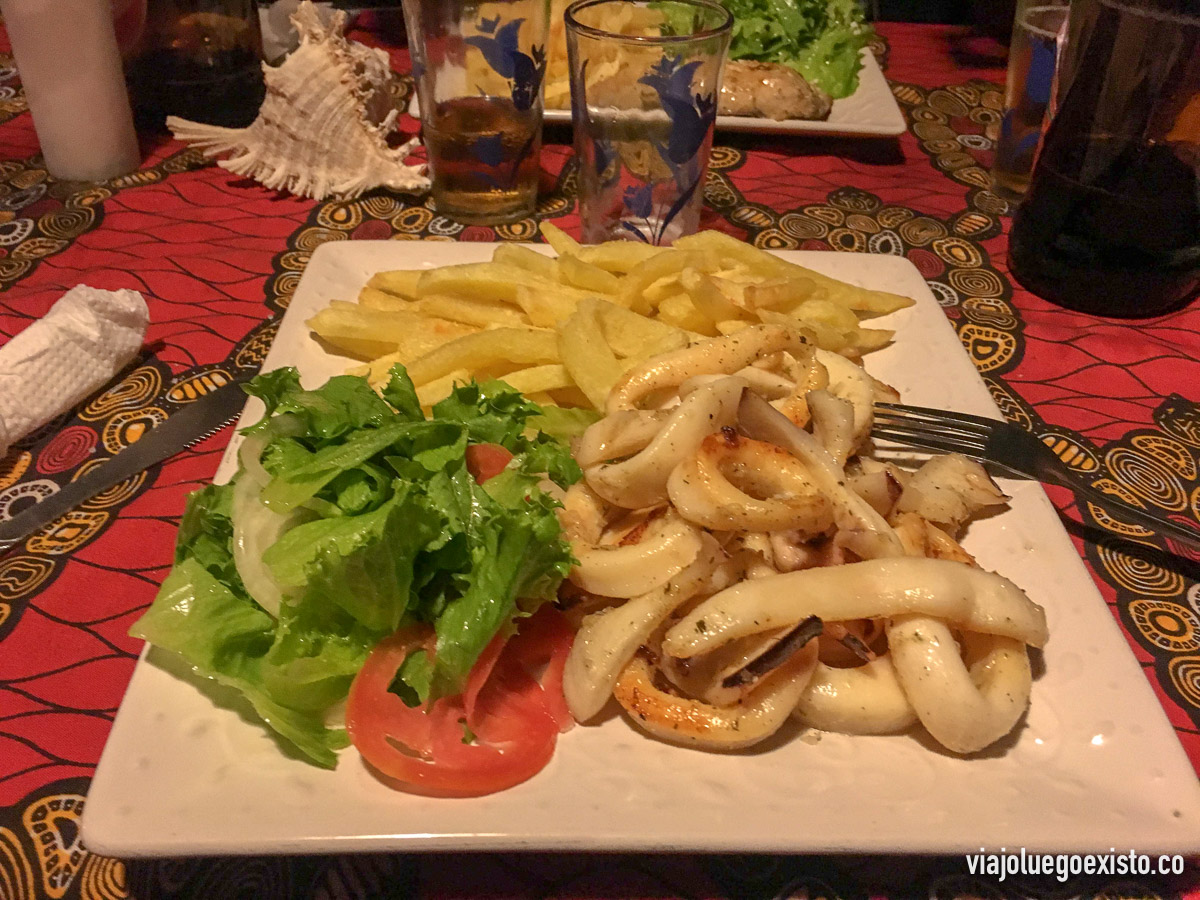 Calamares en restaurante Leopoldinas