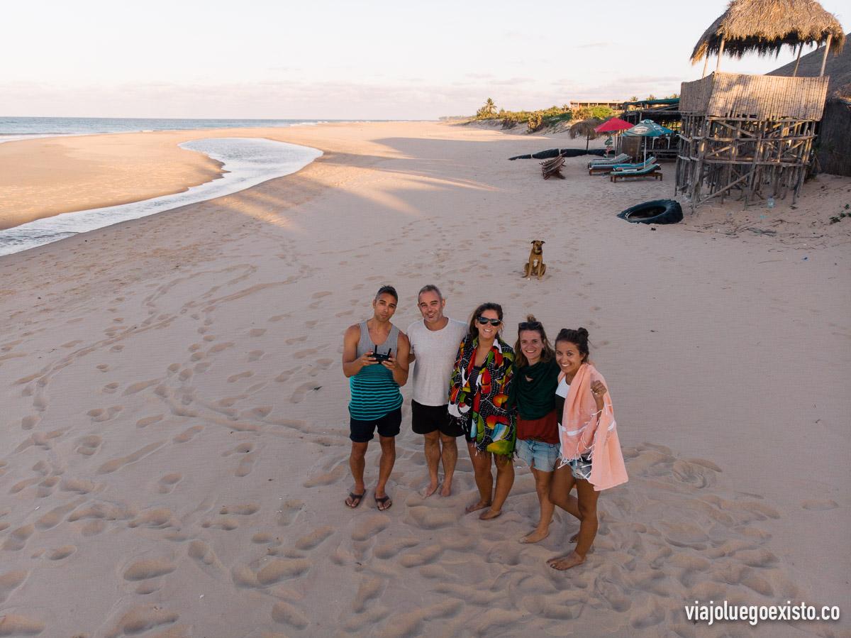 En la playa de Barra con el mejor equipo posible