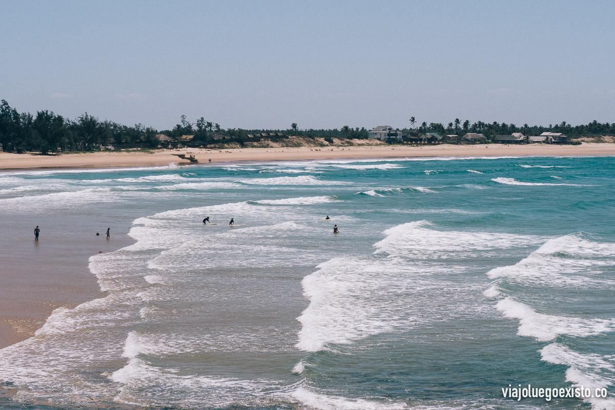 Vistas de la bahía de Tofo