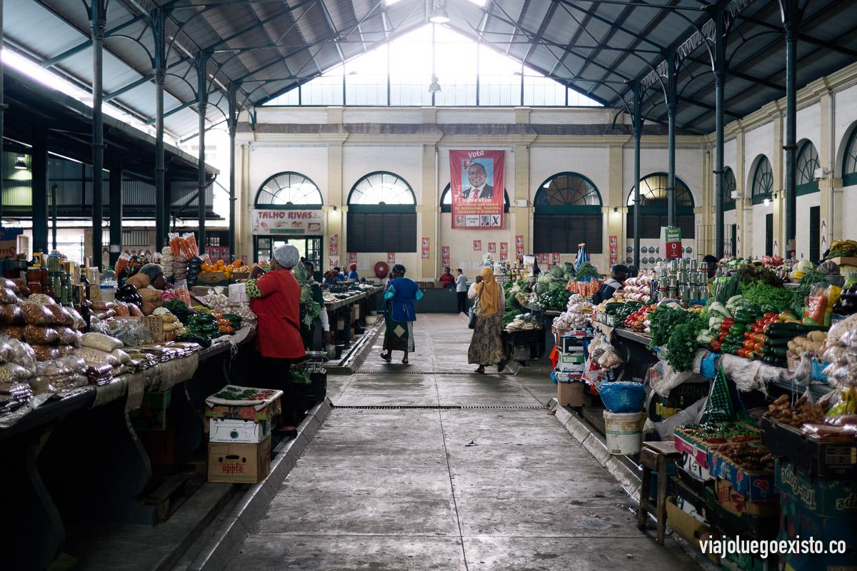 Dentro del Mercado Municipal de Maputo