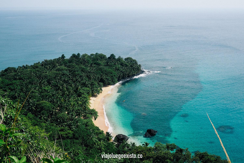 Praia Banana, en la isla de Príncipe.