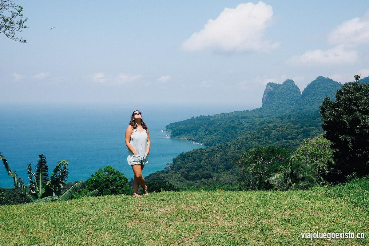 Espectacular vista desde Terreiro Velho, en la isla de Príncipe