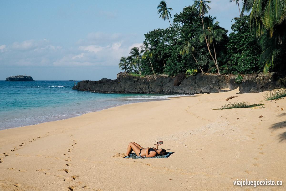 Praia Boi, en la isla de Príncipe
