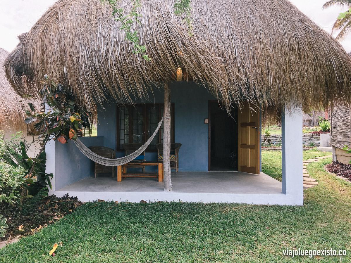 Nuestra cabaña en frente del mar en Baobab Beach Resort, en Vilanculos.