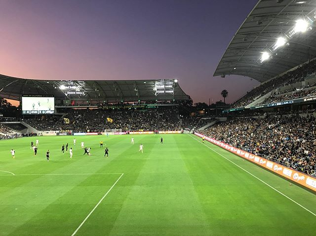 Soccer vibes with @lafc on a Friday night in LA. #apualumni #dtla #lafc