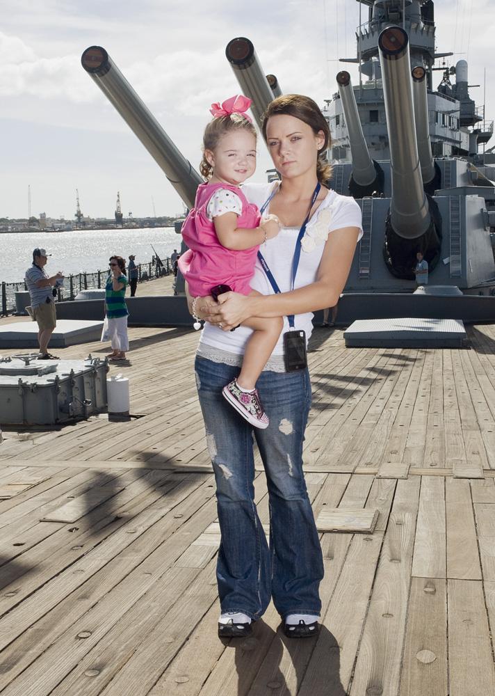 "Jennifer & Alexis Berryman    Battleship Missouri Memorial,Nov. 11, 2010    Archival Pigment Print, 19.75"" x 27.5"""