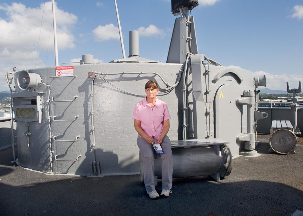 """Ronda Collier    Battleship Missouri Memorial,Dec. 16, 2010    Archival Pigment Print, 27.5"""" x 19.75"""""""
