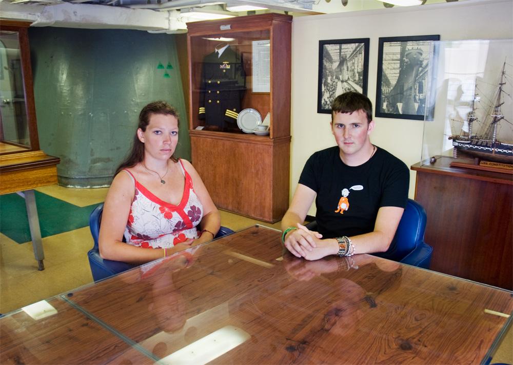 "Claire Crofts & Samuel Harrison    Battleship Missouri Memorial,Nov. 18, 2010    Archival Pigment Print, 27.5"" x 19.75"""