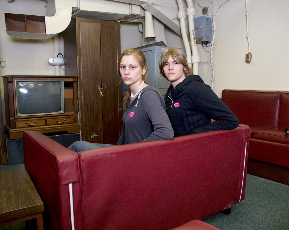 """Cassie & Shane Mitchell    Battleship Missouri Memorial,Dec. 9, 2010    Archival Pigment Print, 19.75"""" x 15.75"""""""