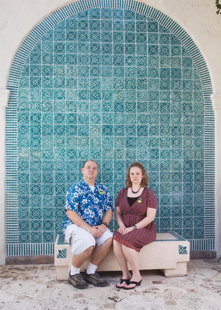 "Frank C. Morgan & Julie Morgan    Honolulu Academy of Arts,Feb. 6, 2010    Archival Pigment Print, 19.75"" x 27.5"""