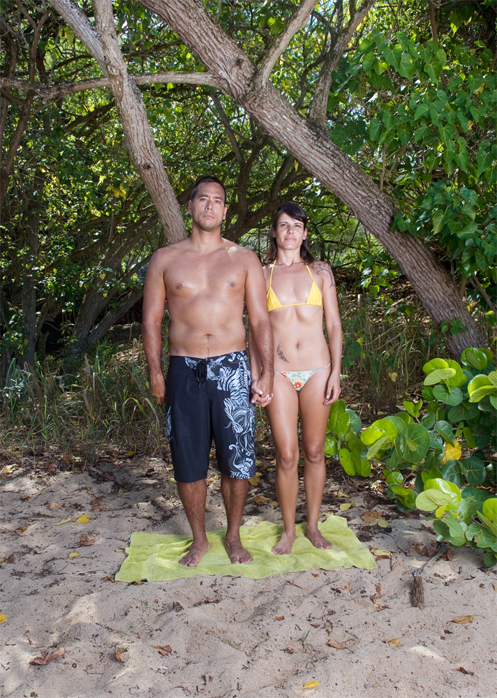 "James Novy & Kelly Roberta Cordeiro De Sousa    Waimea Bay Beach Park,Oct. 14, 2010    Archival Pigment Print, 27.5"" x 19.75"""