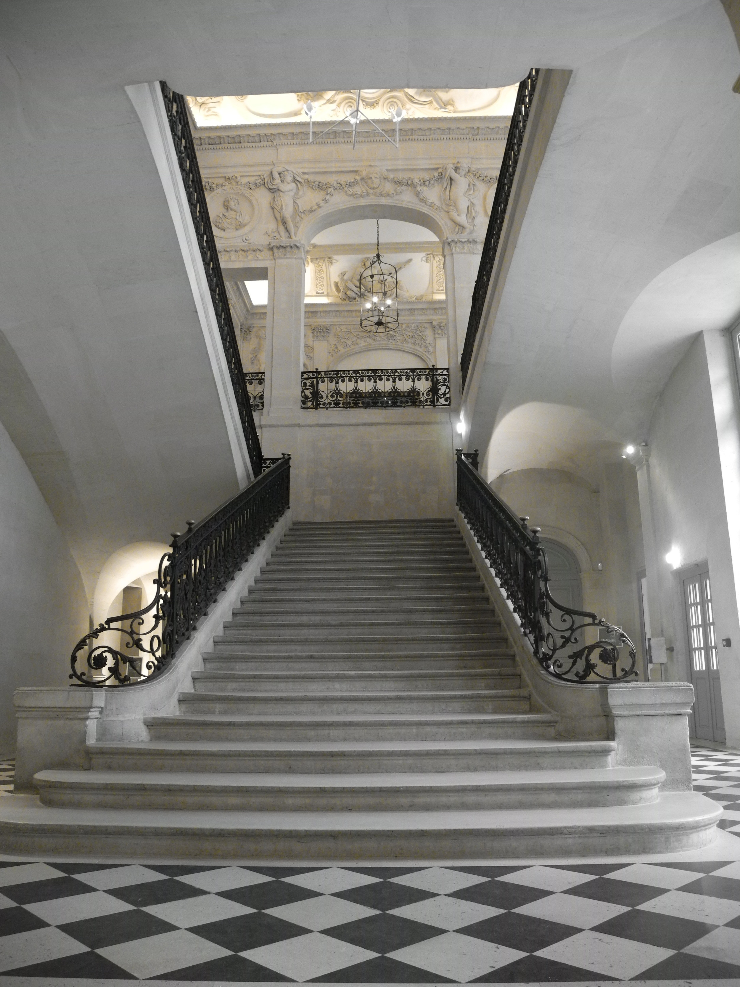 The grand staircase. It's difficult to imagine that this was somebody's home centuries ago.