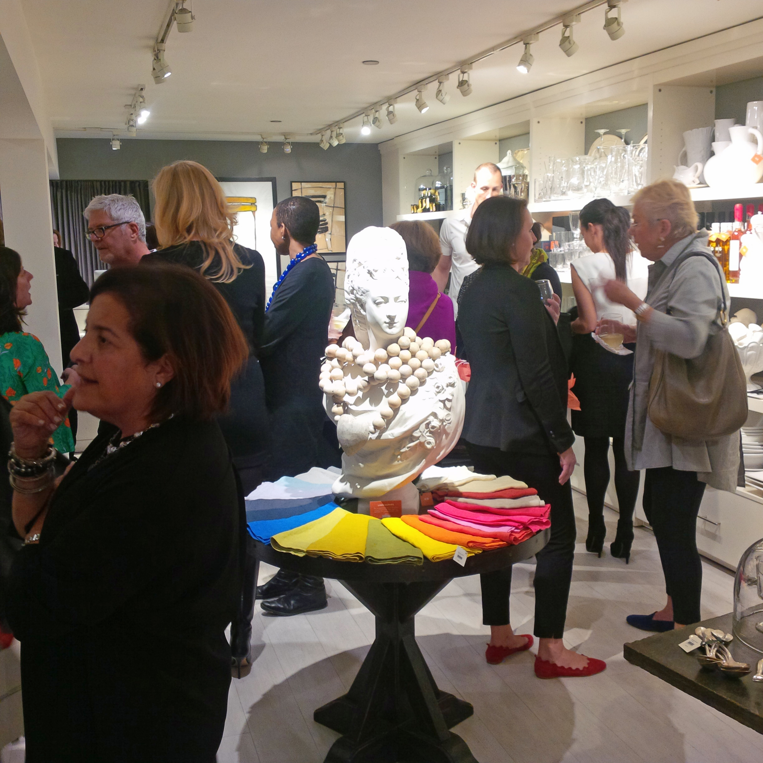 Hudson Grace proprietor Monelle Totah surrounded by her greater goods and design clientele.