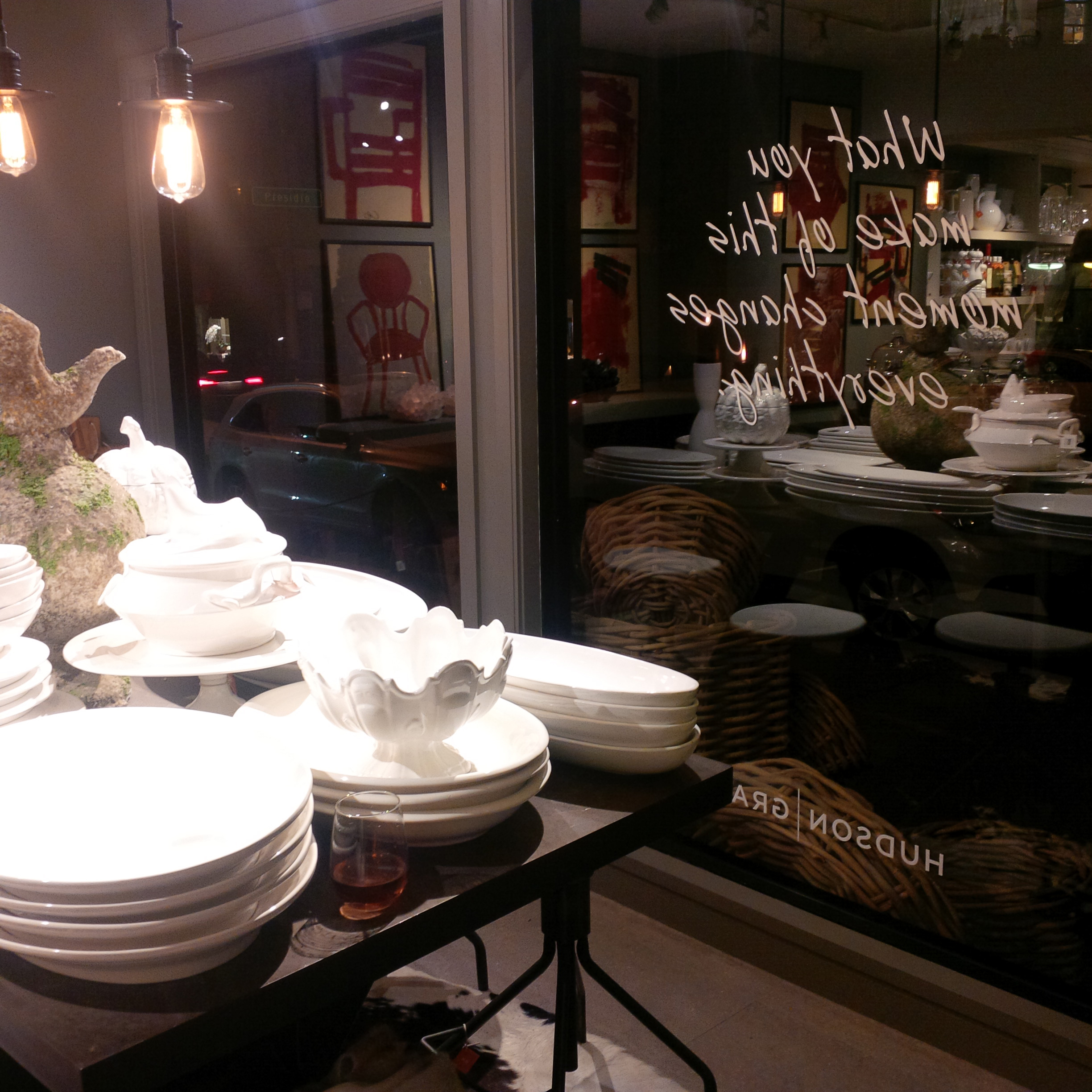 A monotone tablescape of sculptural wares would be a visual treat for any Holiday diner.