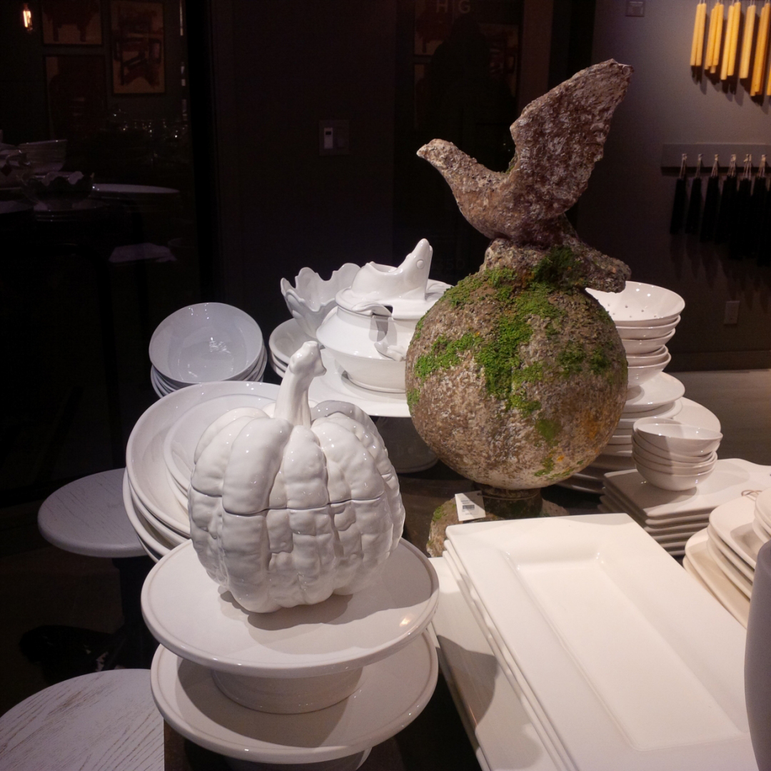 This white ceramic pumpkin would elevate any Thanksgiving table to chic.