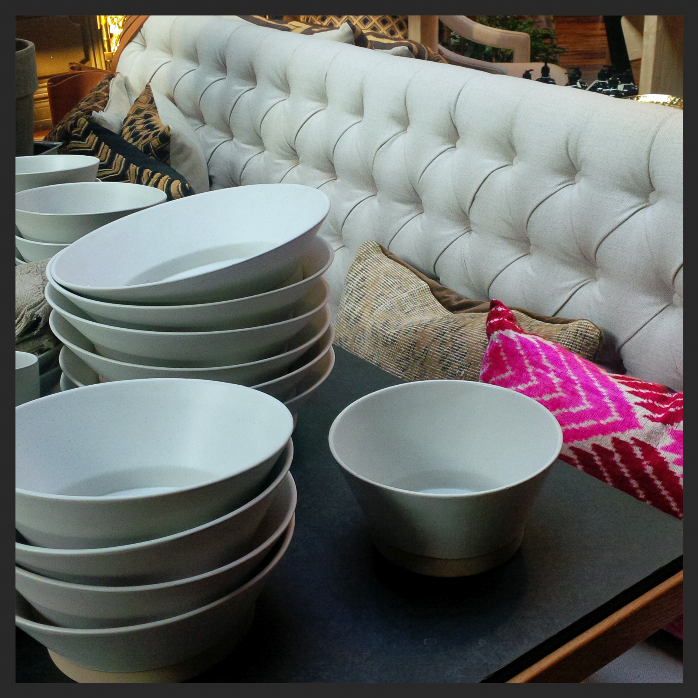 White dishware - a classic gift for any entertainer.
