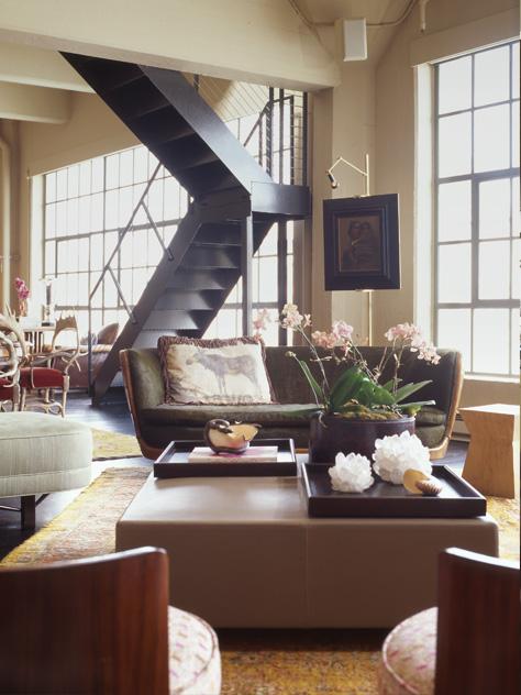 An inviting luxurious loft.