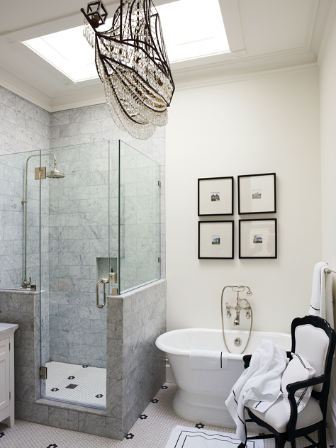 After seeing this, I'm convinced that every bathroom should have a chair in it!
