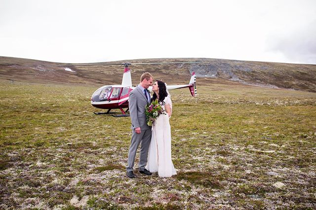 My favorite way to head out to take wedding portraits is via helicopter, seriously though it's the best.