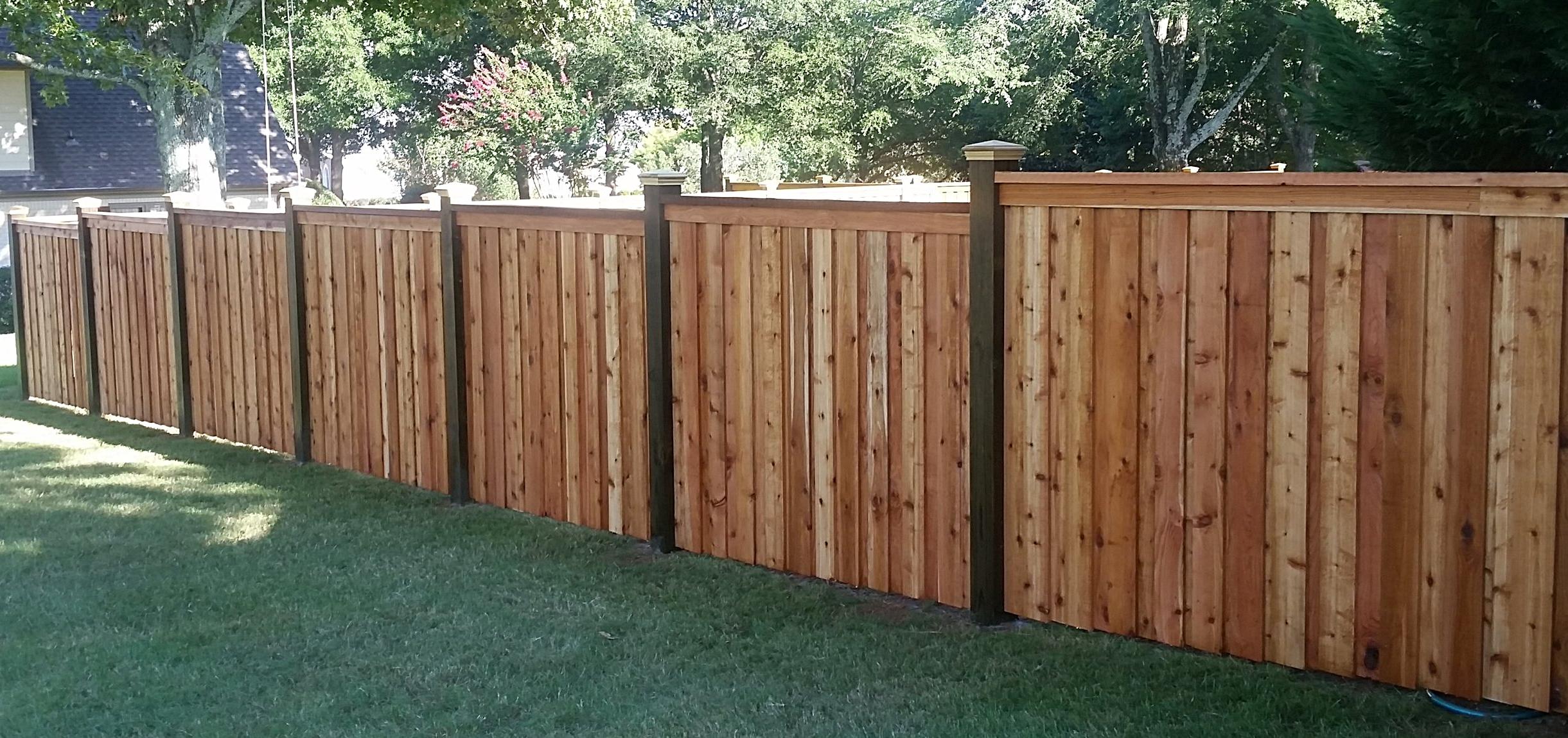 6' Panel Style Cedar Fencing