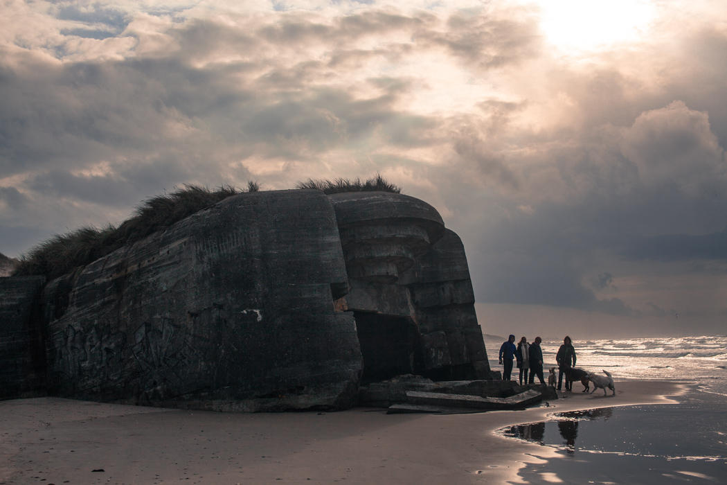 Bunker outside Løkken in Denmark. The bunkers were build during WWII by the Germans during their occupation. It was believed that the allied would invade the West Coast of Denmark - instead it became Normandy.