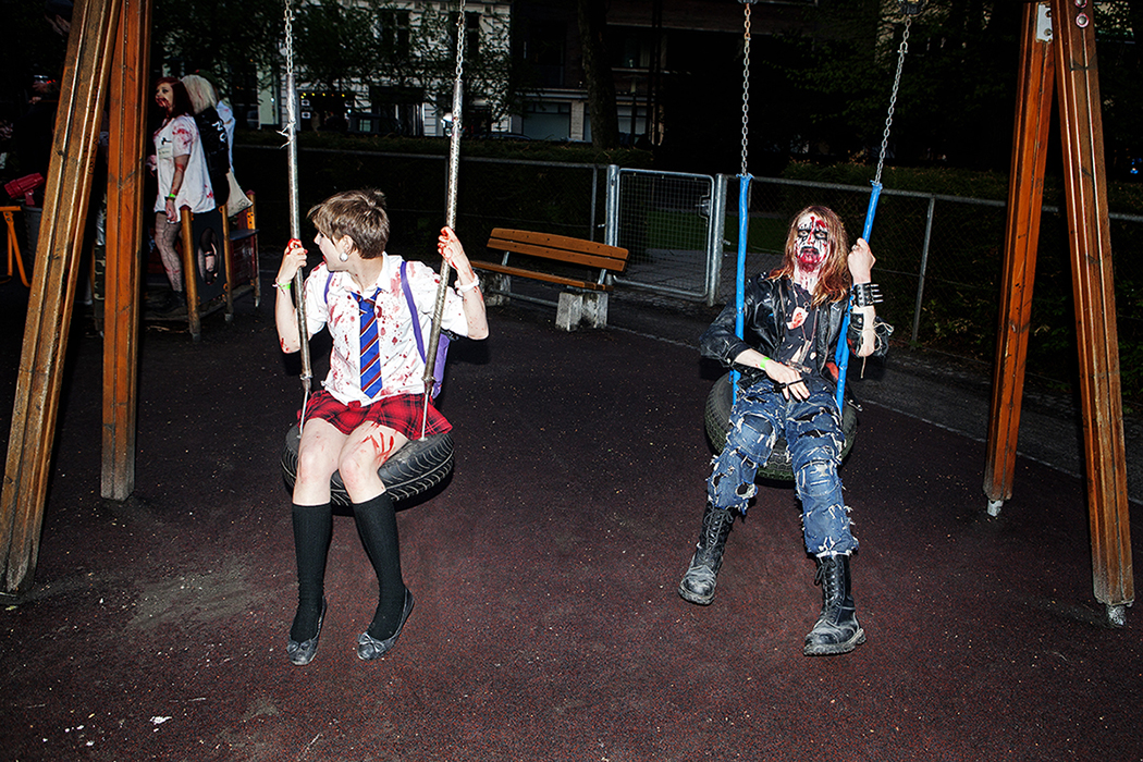 Zombies just wanna have fun. Copenhagen Zombie Crawl 2013. More pictures  here