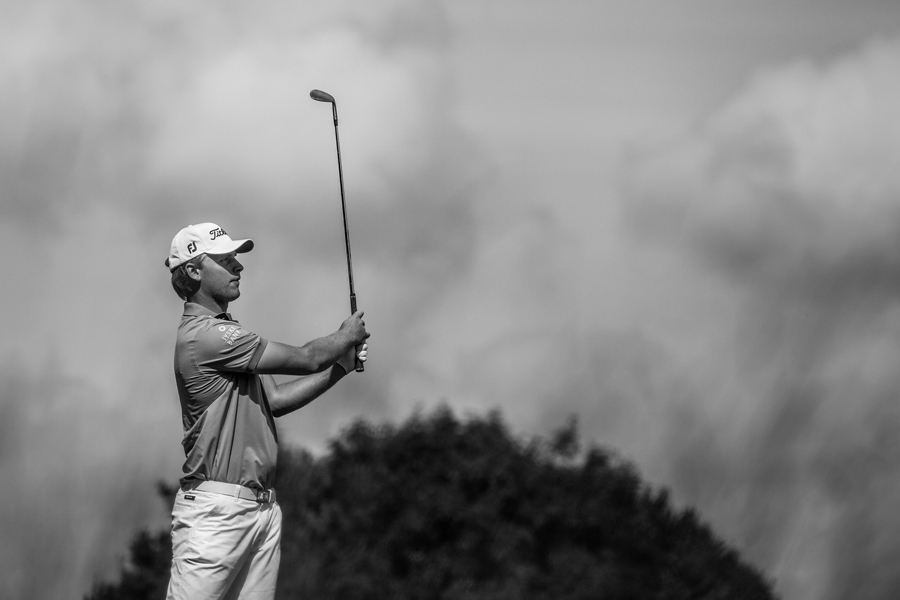 Morten Madsen  shooting a 67 (-5) on the third round of the Challenge Tour tournament  Ecco Tour Championship  at Stensballegaard Golf Club.
