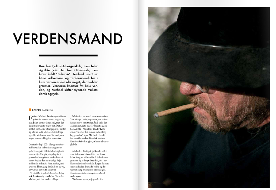 """For three weeks my class and I have worked on a magazine about the border between Denmark and Germany in southern Jutland. It's a place in between something, and therefore we ended up calling the magazine """"Mellemrum"""" (Space in between).   The stories are in Danish but lots of great pictures.    SEE THE MAGAZINE HERE    My handsome co-students are:   Cécile Smetana Baudier  Betina Garcia  Christian Liliendahl   Daniel Hjorth   Morten Rode  Michael Hansen   Kasper Løftgaard"""